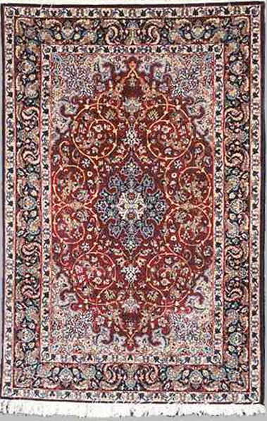 Isfahan Rug with Graceful Islimis