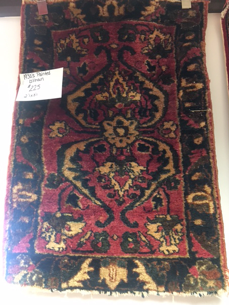 1930s Painted Lilihan Rug for Sale