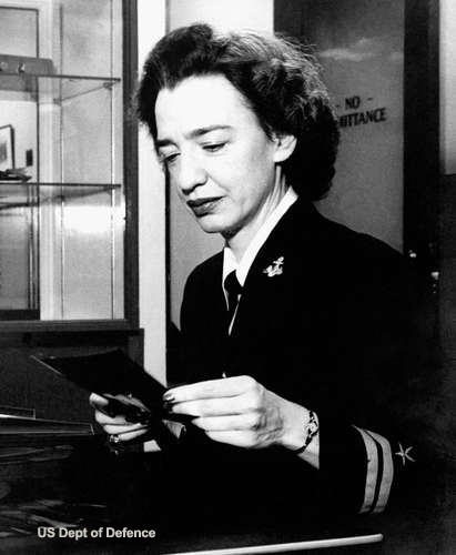 Grace Murray Hopper at Harvard - 1945