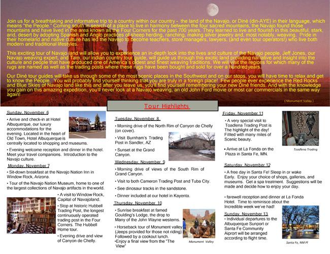 Navajo Rug Tour page 2