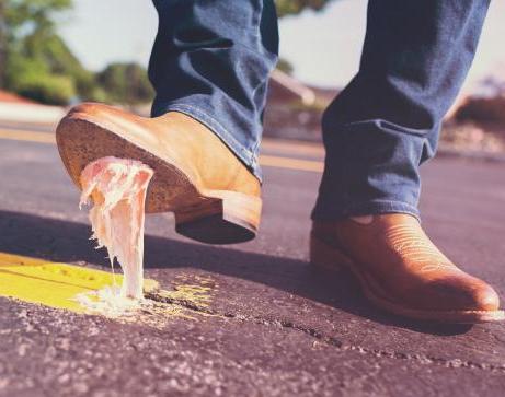 Chewing Gum Under Boot