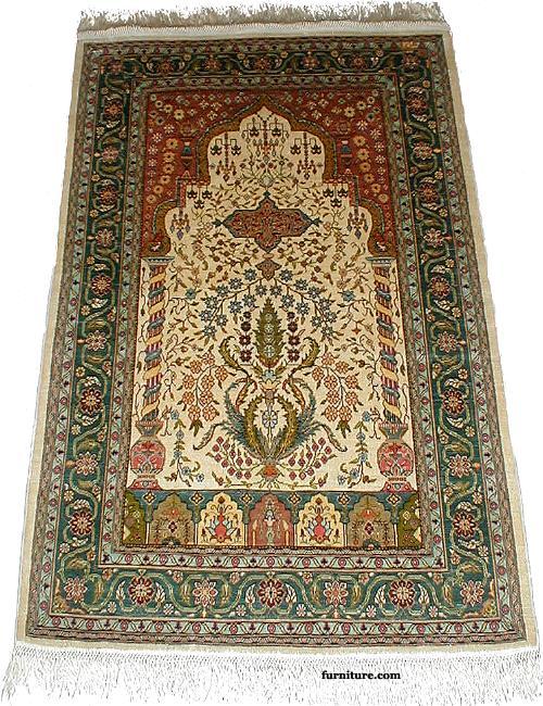 Hereke Silk Prayer Rug
