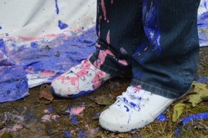 Paint Spills on Pants and Shoes
