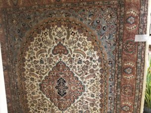 Indian Hand-Knotted Tabriz Style Oriental Rug for Sale