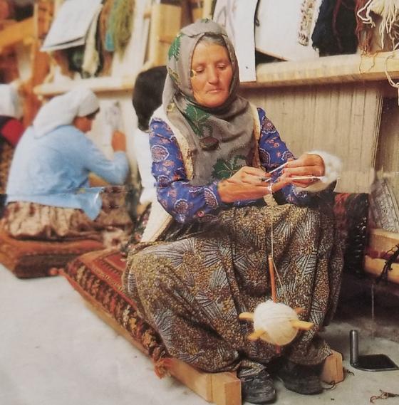 Turkish Woman Spinning Yarn