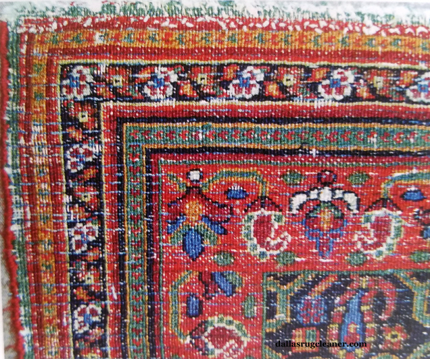 Back of Antique Meshad Rug