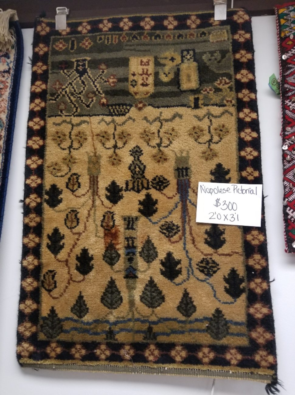Nepalese Pictorial Rug for Sale