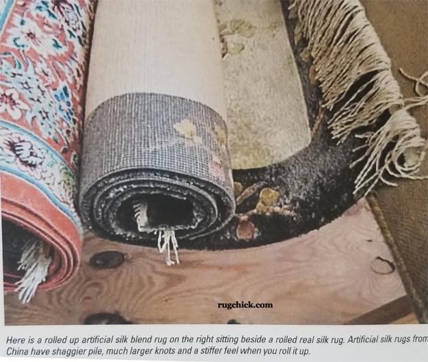 Viscose Rayon Rug vs Real Silk Rug