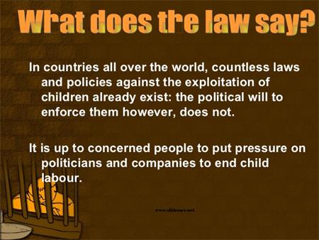 Child labor law poster