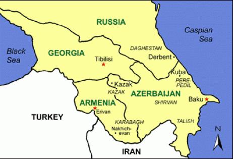Map of Derbend (Derbent)