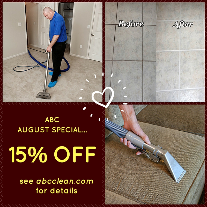 15% Off Carpet Cleaning, Upholstery, and Tile & Grout Cleaning