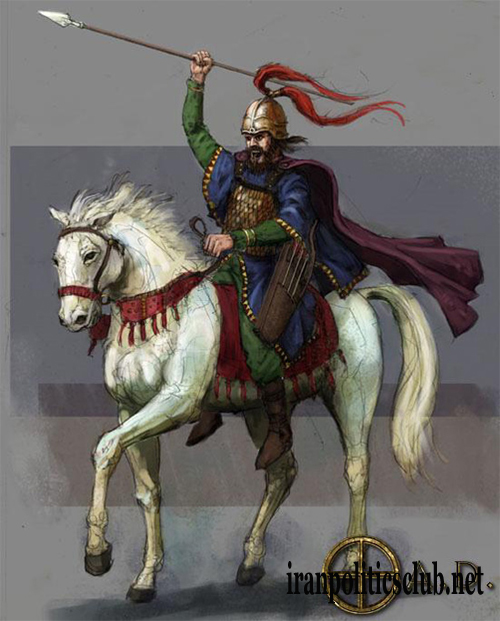 Cyrus the Great on his White Horse