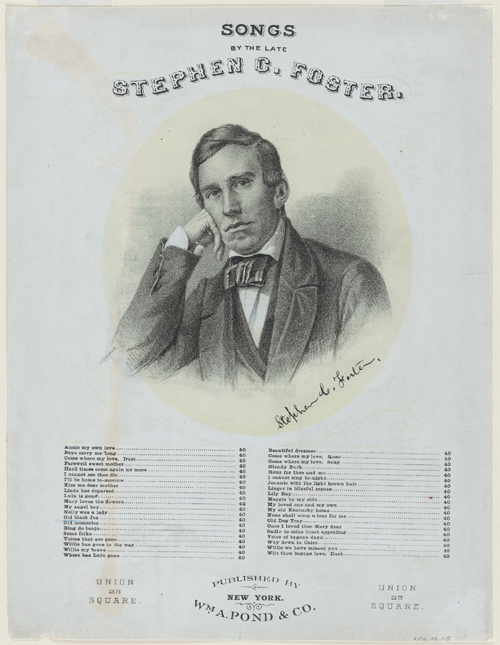 Stephen Collins Foster Songs Published by Firth, Pond, and Company