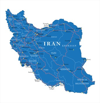 Map of Iran-Shiraz and Fars Province