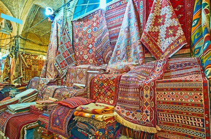 Persian Rugs in Shiraz, Iran Shop