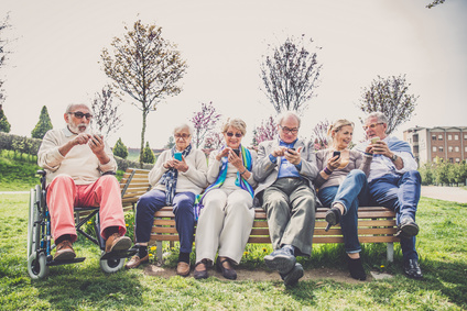 Seniors Outside with Technology