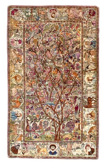 Antique Kerman Pictorial