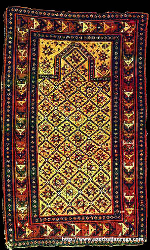 Moghan Prayer Rug 1850s