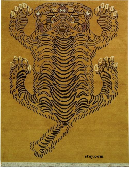Nepalese Gabbeh Lion Rug