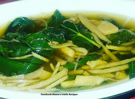 Saluyot and Bamboo Shoots Dish