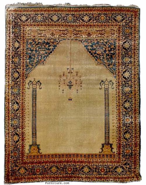 Persian Tabriz Prayer Rug