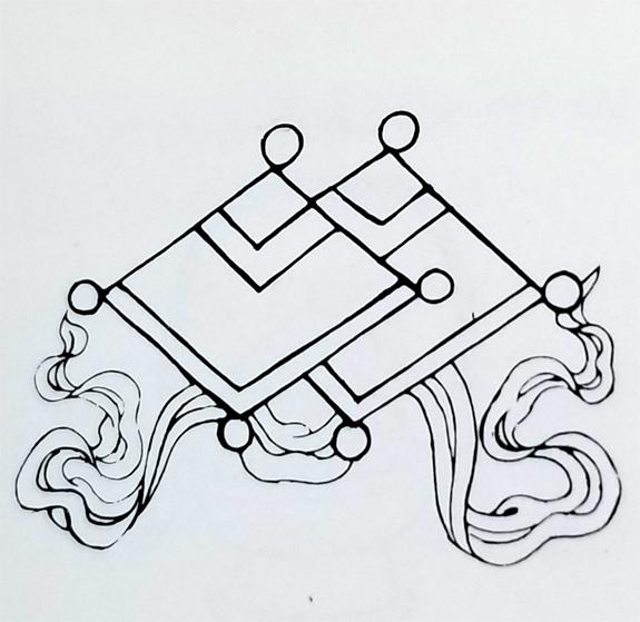 Tibetan Ordinary Symbol-The Mirror