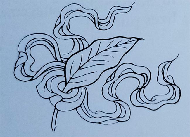 Tibetan Ordinary Symbol-The Artemisia Leaf