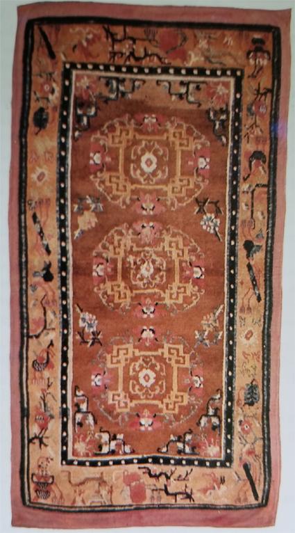 Tibetan Classic Three Medallion Rug