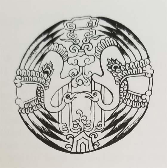 Tibetan Rug Medallion-The Manchurian Crane