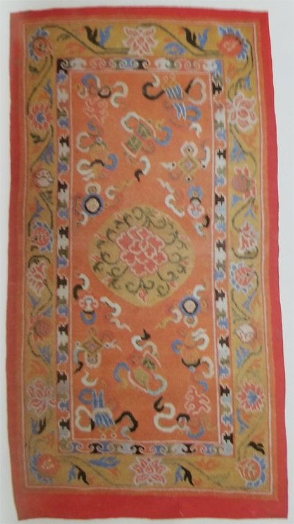 Tibetan One Medallion Rug-Color Scheme Suggests for Ecclesiastical Use
