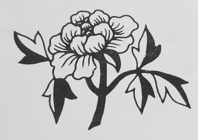 Tibetan Rug Design-The Peony Flower