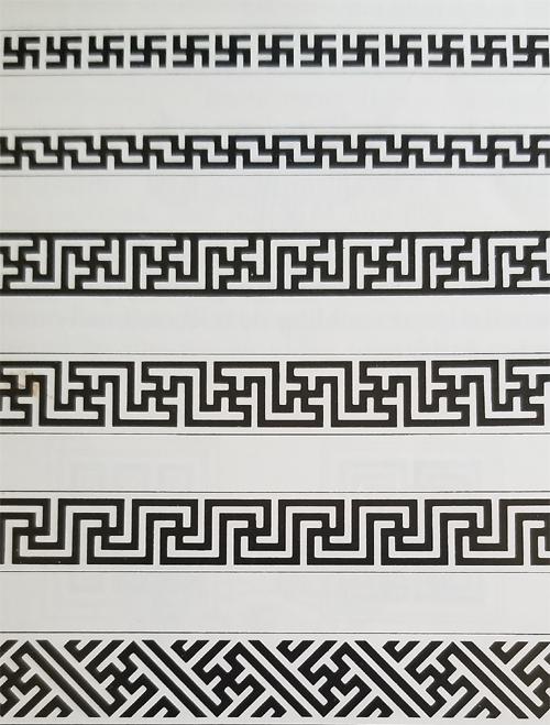 Tibetan Rug Motif-Swastika Examples