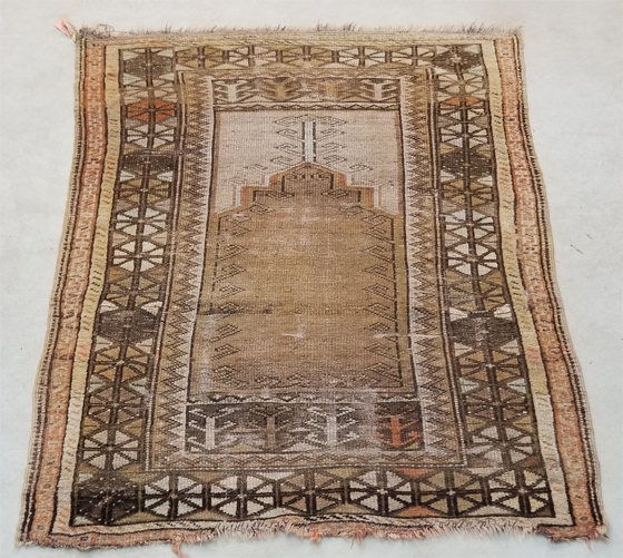 Wool Turkish Prayer Rug for Sale