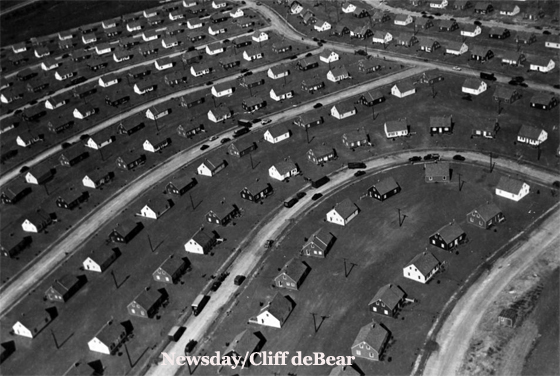Aerial View of Original Homes in Levittown
