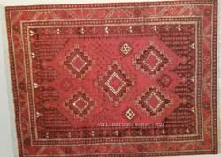 Afshar Oriental Rug with Medallions
