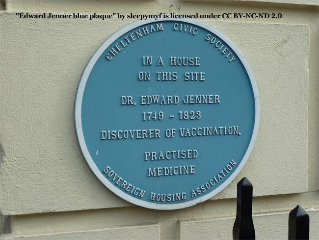 Dr. Edward Jenner Plaque