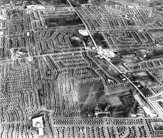 Aerial View of Levittown in 1950 After 10k Homes Built