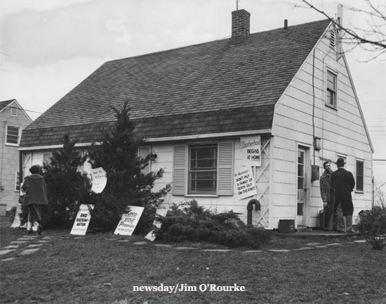 House of black Cotter family protesting their eviction in 1953.