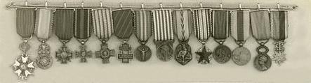 Eugene Jacques Bullard-Medals
