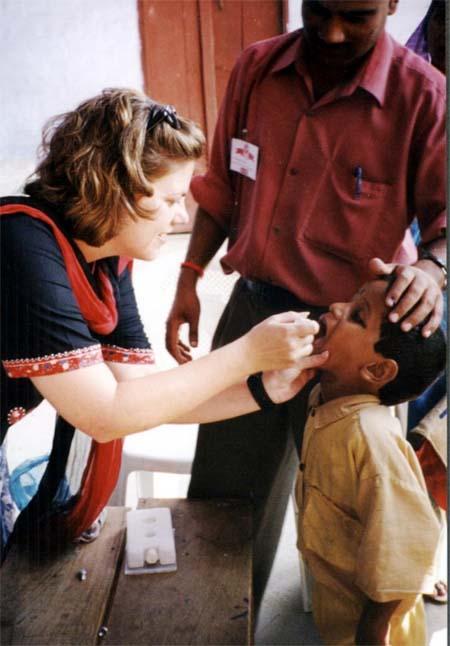 Child Getting Oral Polio Vaccine