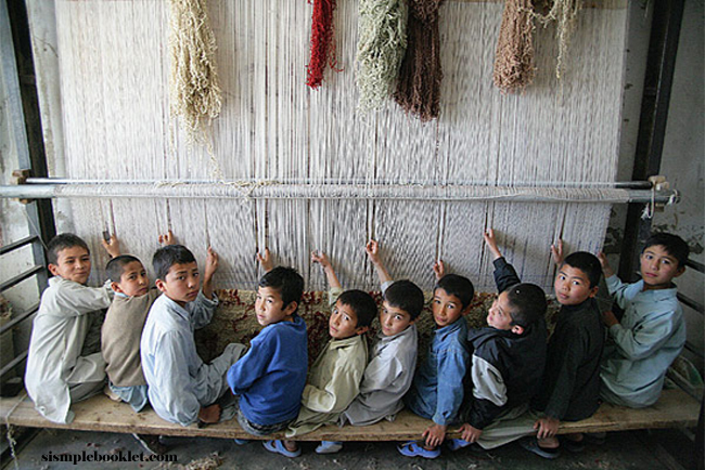 Children at Looms