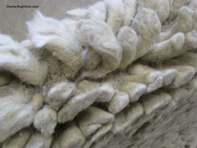 Chunky Wool Sheds Because of Its Length