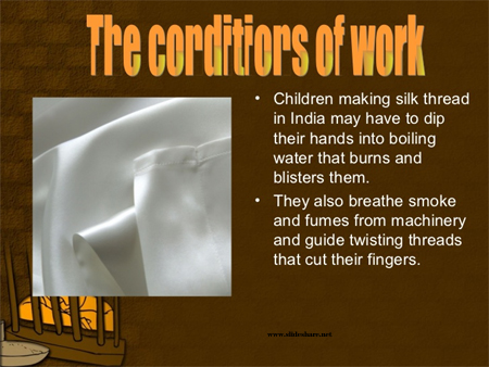 Child labor in silk industry