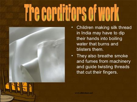 Child labor in silk industry