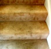 serious spotting on carpet steps