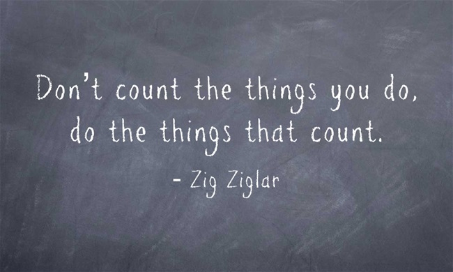 Don't Count the Things Quote