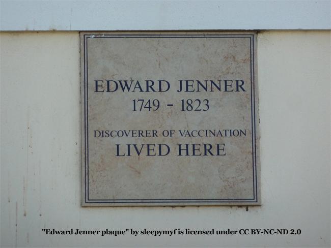 Edward Jenner Plaque