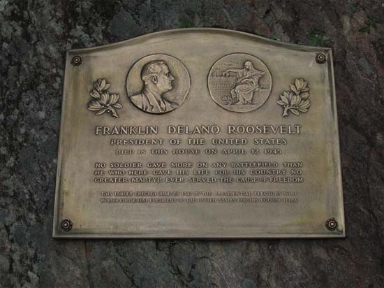 Franklin Delano Roosevelt Plaque