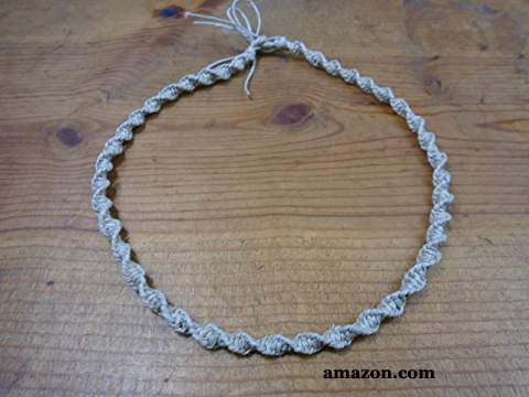 Hemp Macrame Necklace