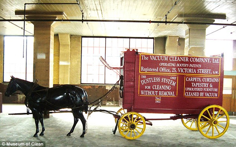 Horse-Drawn Vacuuming System
